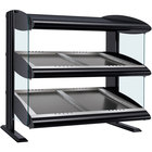 Hatco HZMS-30D Black 30 inch Slanted Double Shelf Heated Zone Merchandiser - 120/208V