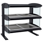 Hatco HZMH-48D Black 48 inch Horizontal Double Shelf Heated Zone Merchandiser - 120/240V
