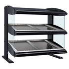 Hatco HZMS-42D Black 42 inch Slanted Double Shelf Heated Zone Merchandiser - 120/240V