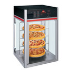 Hatco FSDT-2 Flav-R-Savor Tall Two Door Holding and Display Cabinet with Four Tier Circle Rack and Motor