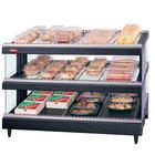 Hatco GR3SDS-33D Glo-Ray 33 inch Slanted Double Shelf Heated Glass Merchandising Warmer - 2210W - 120/208V