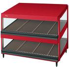 Hatco GRSDS-30D Warm Red Glo-Ray 30 inch Slanted Double Shelf Merchandiser - 120V