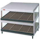 Hatco GRSDS-36D White Granite Glo-Ray 36 inch Slanted Double Shelf Merchandiser - 120V