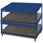 Hatco GRSDS-36D Navy Blue Glo-Ray 36 inch Slanted Double Shelf Merchandiser - 120V