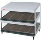Hatco GRSDS-30D White Granite Glo-Ray 30 inch Slanted Double Shelf Merchandiser - 120V