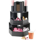 Cal-Mil 1719 Classic Black Revolving Condiment Display - 14 inch x 12 1/2 inch x 21 1/2 inch