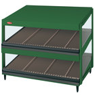 Hatco GRSDS-36D Hunter Green Glo-Ray 36 inch Slanted Double Shelf Merchandiser - 120V