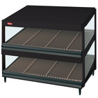Hatco GRSDS-36D Black Glo-Ray 36 inch Slanted Double Shelf Merchandiser - 120V