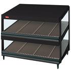 Hatco GRSDS-36D Black Glo-Ray 36 inch Slanted Double Shelf Merchandiser - 120V