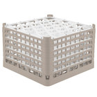 Vollrath 52849 Signature Lemon Drop Full-Size Beige 30-Compartment 11 3/8 inch XXXX-Tall Glass Rack
