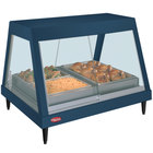 Hatco GRHD-2P Navy Blue Stainless Steel Glo-Ray 32 1/2 inch Full Service Single Shelf Merchandiser