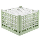 Vollrath 52849 Signature Lemon Drop Full-Size Light Green 30-Compartment 11 3/8 inch XXXX-Tall Glass Rack