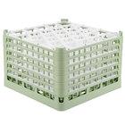 Vollrath 52849 Signature Lemon Drop Full-Size Light Green 30-Compartment 11 3/8 inch XXXX-Tall Glass Rack