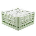 Vollrath 52708 Signature Lemon Drop Full-Size Light Green 20-Compartment 8 1/2 inch XX-Tall Glass Rack