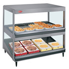 Hatco GRSDS/H-36DHW Glo-Ray 36 inch High Wattage Horizontal / Slanted Double Shelf Merchandiser