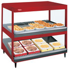 Hatco GRSDS/H-36DHW Warm Red Glo-Ray 36 inch High Wattage Horizontal / Slanted Double Shelf Merchandiser
