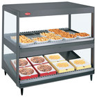 Hatco GRSDS/H-41D Gray Granite Glo-Ray 41 inch Horizontal / Slanted Double Shelf Merchandiser - 120/240V