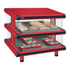 Hatco GR2SDS-36D Warm Red Glo-Ray Designer 36 inch Slanted Double Shelf Merchandiser - 120/208V