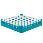 Vollrath 52699 Signature Full-Size Light Blue 49-Compartment 2 13/16 inch Short Glass Rack