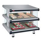 Hatco GR2SDS-36D White Granite Glo-Ray Designer 36 inch Slanted Double Shelf Merchandiser