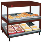 Hatco GRSDS/H-36DHW Antique Copper Glo-Ray 36 inch High Wattage Horizontal / Slanted Double Shelf Merchandiser - 120/208V