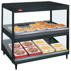Hatco GRSDS/H-41D Black Glo-Ray 41 inch Horizontal / Slanted Double Shelf Merchandiser - 120/240V