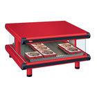 Hatco GR2SDS-42 Warm Red Glo-Ray Designer 42 inch Slanted Single Shelf Merchandiser - 120V