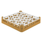 Vollrath 52692 Signature Lemon Drop Full-Size Gold 20-Compartment 3 1/4 inch Short Plus Glass Rack