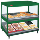 Hatco GRSDS/H-41DHW Hunter Green Glo-Ray 41 inch High Wattage Horizontal / Slanted Double Shelf Merchandiser - 120/240V