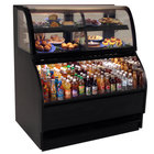 Structural Concepts Harmony HMBC6-QS Black 75 inch Refrigerated Dual Service Merchandiser Case - 24.2 Cu. Ft., 220V