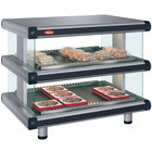 Hatco GR2SDH-30D Gray Granite Glo-Ray Designer 30 inch Horizontal Double Shelf Merchandiser - 120/240V