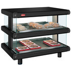 Hatco GR2SDH-30D Black Glo-Ray Designer 30 inch Horizontal Double Shelf Merchandiser - 120/240V