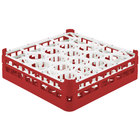 Vollrath 52693 Signature Lemon Drop Full-Size Red 20-Compartment 4 5/16 inch Medium Glass Rack