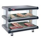 Hatco GR2SDS-24D Gray Granite Glo-Ray Designer 24 inch Slanted Double Shelf Merchandiser - 120V