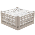 Vollrath 52708 Signature Lemon Drop Full-Size Beige 20-Compartment 8 1/2 inch XX-Tall Glass Rack