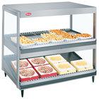Hatco GRSDS/H-41DHW White Granite Glo-Ray 41 inch High Wattage Horizontal / Slanted Double Shelf Merchandiser - 120/240V