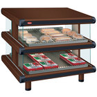 Hatco GR2SDS-30D Antique Copper Glo-Ray Designer 30 inch Slanted Double Shelf Merchandiser - 120/240V