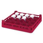 Vollrath 52677 Signature Full-Size Red 20-Cup 4 1/8 inch Medium Rack