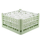 Vollrath 52709 Signature Lemon Drop Full-Size Light Green 20-Compartment 9 1/16 inch XX-Tall Plus Glass Rack