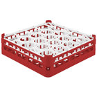 Vollrath 52702 Signature Lemon Drop Full-Size Red 20-Compartment 4 13/16 inch Medium Plus Glass Rack