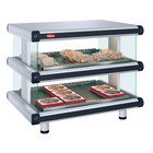 Hatco GR2SDH-36D White Granite Glo-Ray Designer 36 inch Horizontal Double Shelf Merchandiser - 120/240V