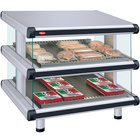 Hatco GR2SDS-30D White Granite Glo-Ray Designer 30 inch Slanted Double Shelf Merchandiser - 120/208V