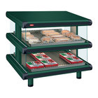 Hatco GR2SDS-24D Hunter Green Glo-Ray Designer 24 inch Slanted Double Shelf Merchandiser - 120V