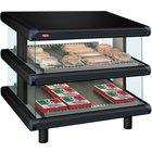 Hatco GR2SDS-30D Black Glo-Ray Designer 30 inch Slanted Double Shelf Merchandiser - 120/208V