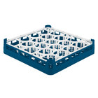 Vollrath 52692 Signature Lemon Drop Full-Size Royal Blue 20-Compartment 3 1/4 inch Short Plus Glass Rack