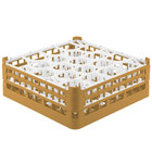 Vollrath 52703 Signature Lemon Drop Full-Size Gold 20-Compartment 5 11/16 inch Tall Glass Rack