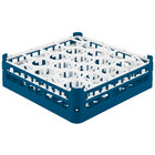 Vollrath 52702 Signature Lemon Drop Full-Size Royal Blue 20-Compartment 4 13/16 inch Medium Plus Glass Rack