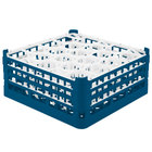 Vollrath 52706 Signature Lemon Drop Full-Size Royal Blue 20-Compartment 7 1/8 inch X-Tall Glass Rack