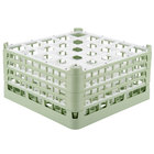 Vollrath 52713 Signature Full-Size Light Green 25-Compartment 8 1/2 inch XX-Tall Glass Rack