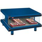 Hatco GR2SDS-24 Navy Blue Glo-Ray Designer 24 inch Slanted Single Shelf Merchandiser - 120V